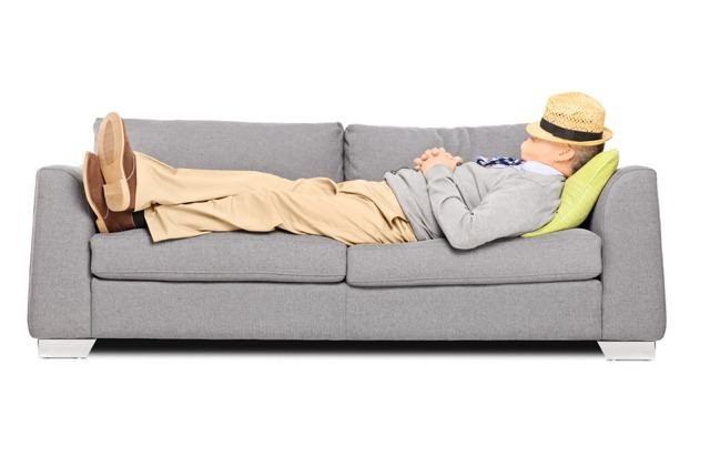 Man sleeping in sofa